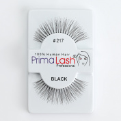 100% Human Hair False Lashes by PrimaLash Professional STYLE 217- Handmade Strip Lashes