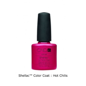 CND Shellac Colour Coat Nail Varnish Hot Chilli 7.3 ml Pearly Raspberry