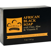Bar Soap African Black w/ Oats, 150ml, From Nubian Heritage by Nubian Heritage [Beauty]