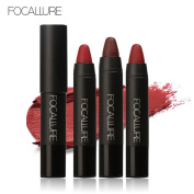 Covermason 3pcs/Set Long-lasting Red Velvet Matte 3 Colours Makeup Pencil Lipstick Crayon Kit