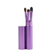 Lalang Professional Eyeshadow Brushes Kits Eye Makeup Tool with Round Tube Case, 5Pcs Easy to Carry