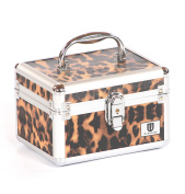 Urbanity Aluminium Makeup Cosmetics Vanity Case Beauty / Jewellery Box Leopard