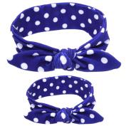 Xinantime Mother And Baby DIY Rabbit Ears Elastic Cloth Headband Set