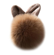 Covermason Cute Faux Rabbit Fur Ball Charm Car Keychain Handbag Key Ring