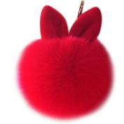Covermason Cute Faux Rabbit Fur Ball Charm Car Keychain Handbag Key Ring