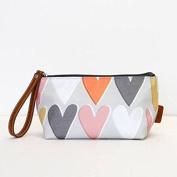 Caroline Gardner Layered Hearts Cosmetics Bag