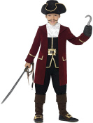 Boys Deluxe Pirate Captain Fancy Dress Costume All Sizes