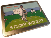 STICKY WICKET! The QUIKKY Test Cricket board game in a portable pokket-size tin