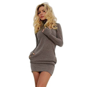 Familizo Sexy Women Bodycon Long Sleeve Evening Party Short Mini Dress