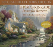Thomas Kinkade Special Collector's Edition with Scripture 2018 Deluxe Wall Calen