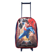 Batman Vs Superman Wheeled Children's Bag, 40 cm, 12 Litres, Black