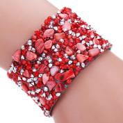 Binmer(TM) Women Bohemian Crystal Magnetic Clasp Bracelets Wrist Chains Wristband