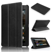 For Kindle Fire HD 7, AMA(TM) Ultra Slim Leather Folio Stand Case Protective Cover for Amazon Kindle Fire HD 7 Tablet 18cm (2015 Edition)