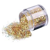 Elevin(TM)10g/Box Gold Sliver Makeup Art DIY Sequins Nail Glitter Powder Shinning Nail Mirror Powder