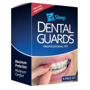 Professional Dental Night Guard-3(Pack) Stops Bruxism & Tmj. Eliminates Teeth Clenching & Teeth Grinding. BPA Free & FDA Approved. Instructions & Anti-Bacterial Case Included.!