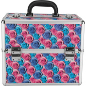 Hiker PT4001 Professional Makeup Train Case Portable Cosmetic Jewellery Box Organiser, Multicolor Floral