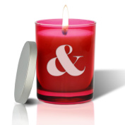 RUBY GEM COLLECTION GLASS CANDLE : LARGE AMP SIGN