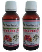 Nirgundi Oil - 100 ml - Planet Ayurveda - US seller - 2 bottles