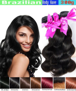 eCowboy BODY WAVE Brazilian 3 Bundle Pack GREAT DEAL Wavy Hair Weave Extensions 100% Human Hair GUARANTEED or Precolored Medium Brown #4