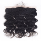 Auspiciouswig 13x 4 Free Part Brazilian Human Hair Lace Frontal Closure Body Wave Natural Colour