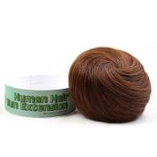 Bella Hair 100% Human Hair Bun Extension Donut Chignon Hairpieces for Both Women and Men Instant Up Do Style Bun Wig