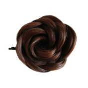 Remeehi Synthetic Bun Hairpieces Head Wear Clip on Hair Accessories Light Brown