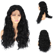 Life Diaries 250%Density Lace Front Synthetic Wig Long Natural Wave 10%Human Hair+90%Heat Resistant Fibre Wig Nature Colour With Baby Hair For Women