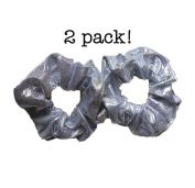 Shiny Metallic Scrunchie Set, Set of 2 Sparkly Lame Scrunchies