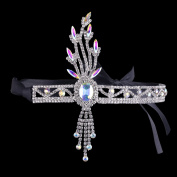 BABEYOND Bling Silver-Tone The Great Gatsby Inspired Leaf Crystal Headband Hair Tiara
