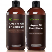 Argan Oil Shampoo and Conditioner Set ( 2x 240ml), Sulphate Free, Hair Repair Combo, Thinning Hair & Hair Growth, By Premium Nature