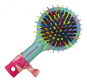 American Jewel Detangling Hair Brush, My Rainbow, Neon Aqua