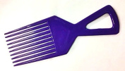 The Home Fusion Company Blue Afro Comb Detangler Detangling Hair Comb / Brush