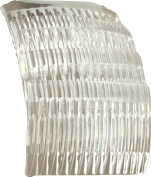 Shropshire Supplies 7Cm Side Combs Hair Combs Pack Of 4 Clear