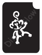 Monkey 1018 Body Art Glitter Makeup Tattoo Stencil- 5 Pack