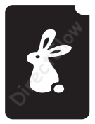 Rabbit 1001 Body Art Glitter Makeup Tattoo Stencil- 5 Pack