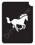Horse 1005 Body Art Glitter Makeup Tattoo Stencil- 5 Pack
