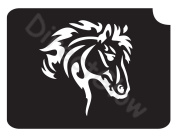 Horse 1001 Body Art Glitter Makeup Tattoo Stencil- 5 Pack