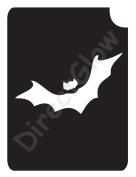 Bat 1006 Body Art Glitter Makeup Tattoo Stencil- 5 Pack