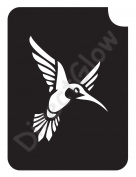 Humming Bird 1027 Body Art Glitter Makeup Tattoo Stencil- 5 Pack