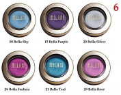 (Pack of 6) - VALUE PACK! - MIX of Milani Bella Eyes Gel Powder Eyeshadow, 08 Bella Sky- 15 Bella Purple- 20 Bella Silver- 21 Bella Teal- 26 Bella Fuchsia- 29 Bella Rose