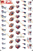 New England Patriots Waterslide Nail Decals (Tattoos) V2