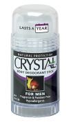 CRYSTAL BODY DEODORANT Stick for Men - Unscented (130ml) - 2 Count
