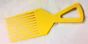 The Home Fusion Company Yellow Afro Comb Detangler Detangling Hair Comb / Brush