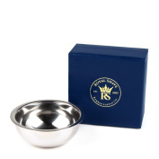 RoyalShave Premium Chrome-Plated Shaving Bowl - Shaving Soap Lather Bowl!