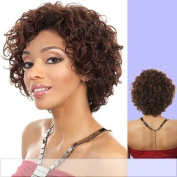 H. SHEA (Motown Tress) - Human Hair Full Wig in DARKEST BROWN by Oradell International Corporation