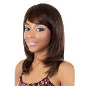 HB-WINTER (Motown Tress) - Human Hair Blend Full Wig in DARKEST BROWN by Oradell International Corporation
