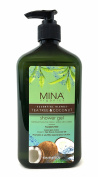 Tea Tree & Coconut Oil Shower Gel 530ml (Paraben FREE) with Pump by Mina Organics. Factory Fresh!