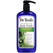 Dr. Teal's Ultra Moisturising Body Wash Relax and Relief with Eucalyptus Spearmint, 24 Fluid Ounce - Pack of 2
