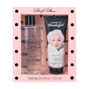 Marilyn Monroe Bath Duo - Shower Gel and Scrub Set - Pink and Black Dot