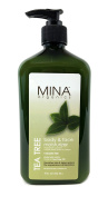 Tea Tree Body & Face Moisturiser 530ml (Paraben FREE) with Pump by Mina Organics. Factory Fresh!